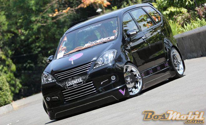 Modifikasi Toyota Avanza Hitam Ceper