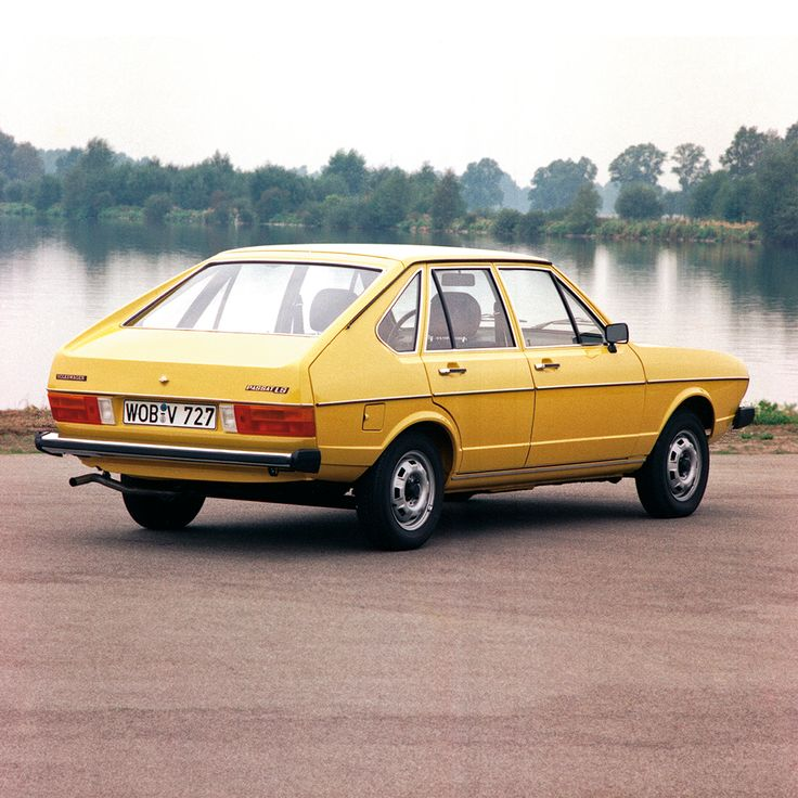 Lakeside nostalgia. This photo of a classic Volkswagen Passat from 1976 brings back memories.