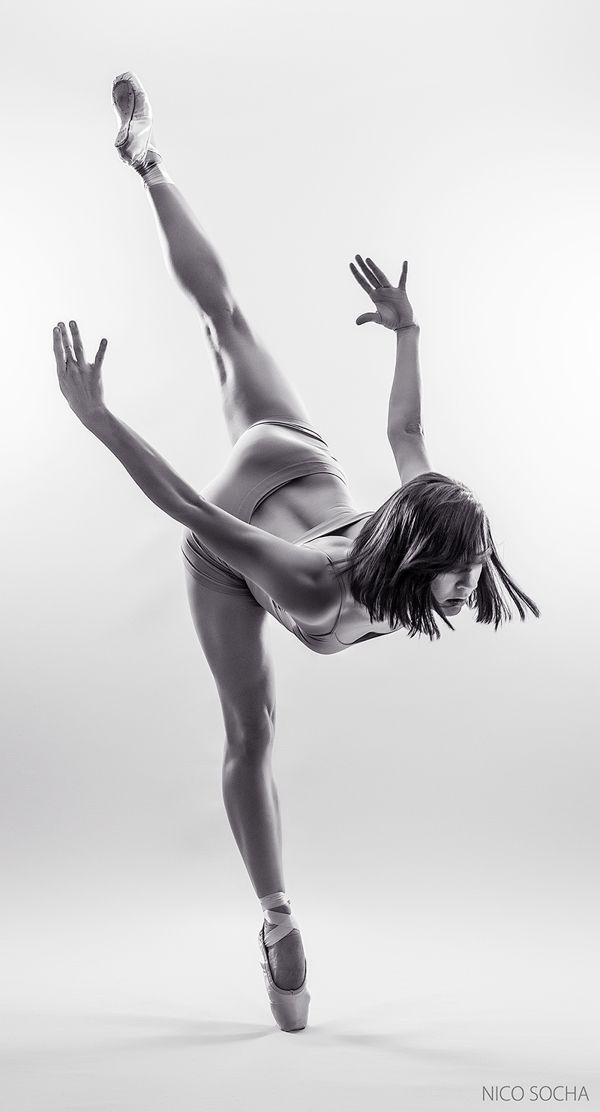 pinterest.com/fra411 #ballerina monochrome part2 by Nico Socha, via Behance