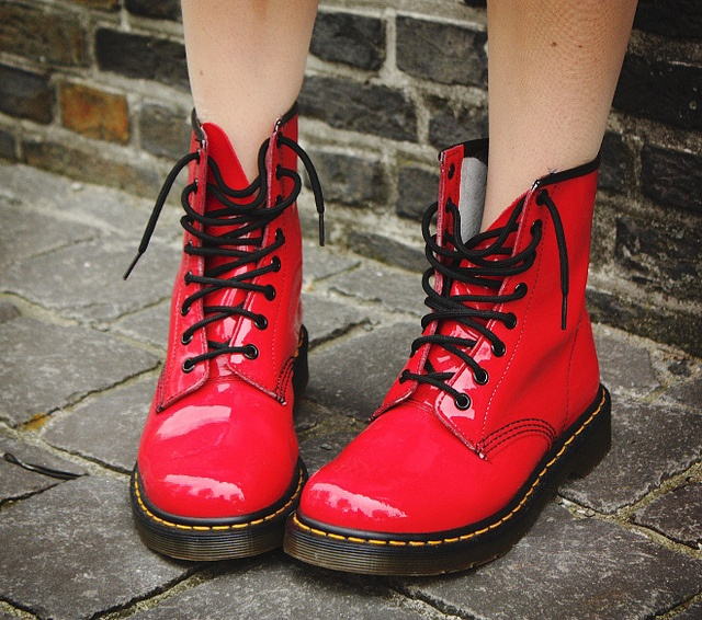 "cherry red doc martens. For some reason these remind me of ""My So-Called Life"". God I miss that show!"