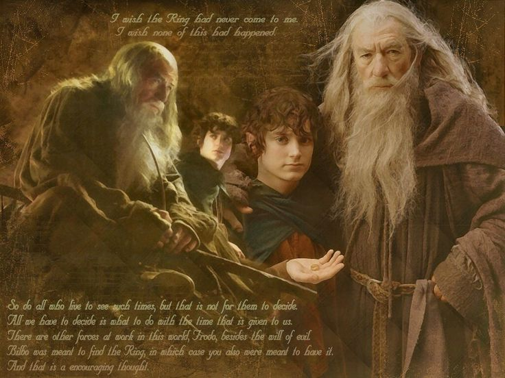Frodo and gandalf   I love the world, Fictional characters ...