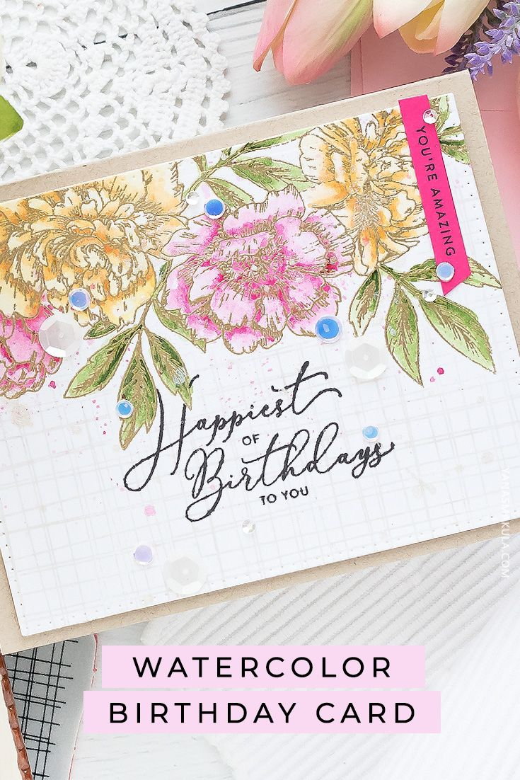 Amazon Com Pink Watercolor Cardstock Arts Crafts Sewing