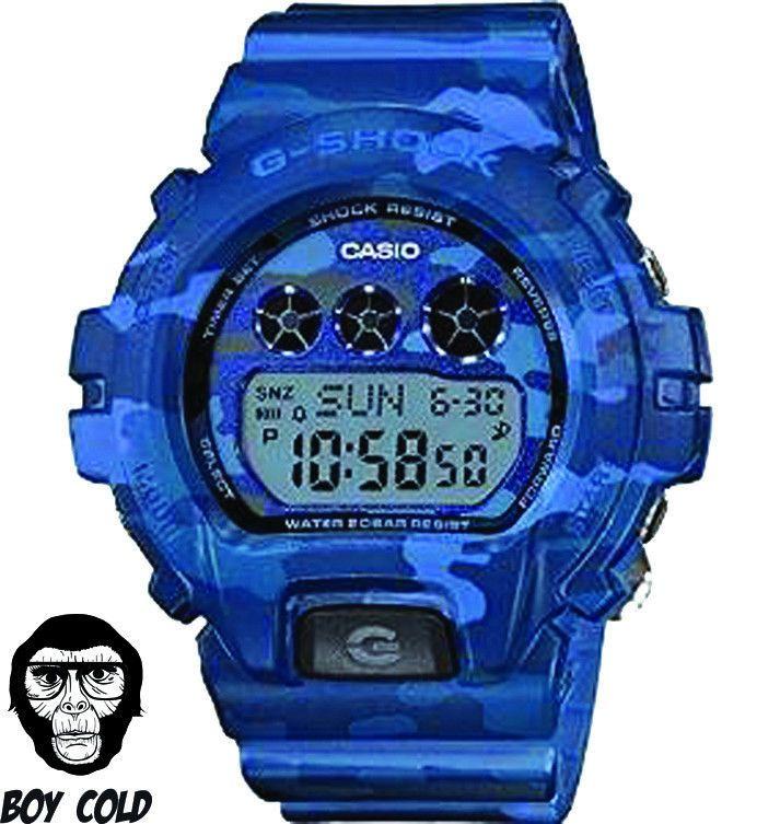 New Casio G Shock Gmds6900cf 2 S Series Watch Blue Camo