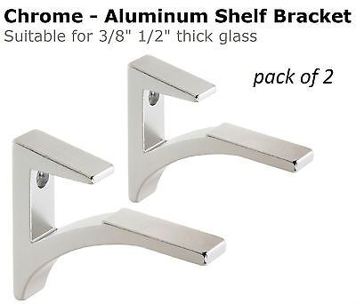 crl white aluminum shelf bracket for 3 to 1 glass