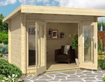 Garden Offices, log cabins, kits for sale, garden rooms, garden workshops, residential log homes