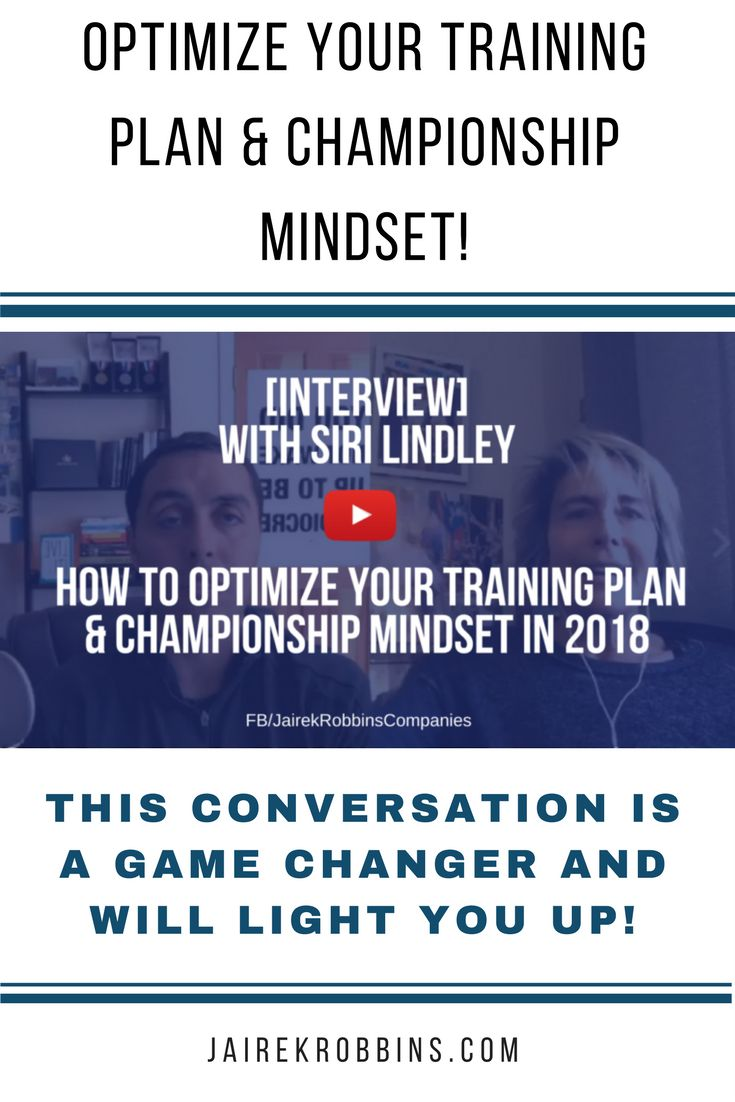 I had the honor of sitting down with Siri Lindley, 2x ITU Triathlon World Champion and in the International Triathlon Union (ITU) Hall of Fame! We had a conversation that for anyone who is looking to make a physical change in their life - whether it be personal weight loss and fitness goals to athletic aspirations. THIS conversation is a game changer and will light you up! Check it out.