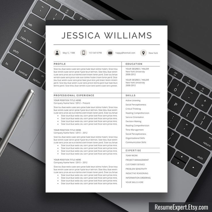 25 Best Images About Modern Cv Resume On Pinterest