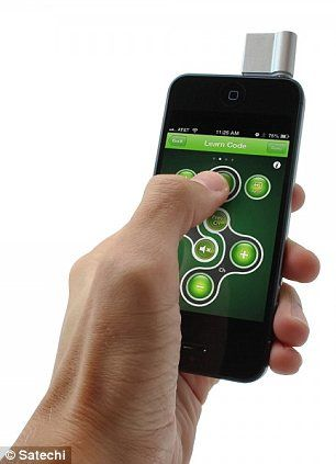 Satechi ST-URB1. Turns iPhone into universal remote.