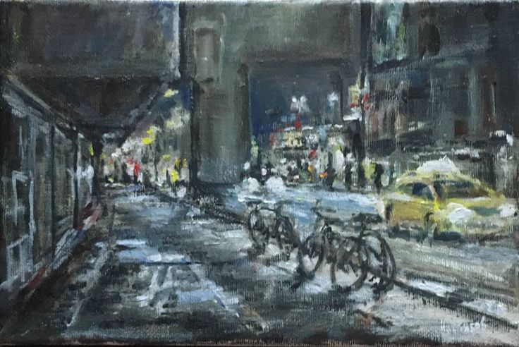 A personal favourite from my Etsy shop https://www.etsy.com/listing/534047839/oil-painting-on-canvad-city-landscape