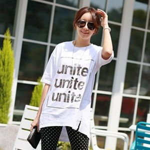Republic of Korea reigning Women's Clothing Store [CANMART]  sleeved tee silver box / Size : Free / Price : 15.29 USD