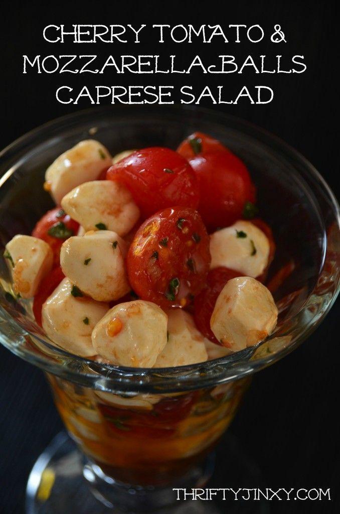 Cherry Tomato & Mozzarella Balls Caprese Salad