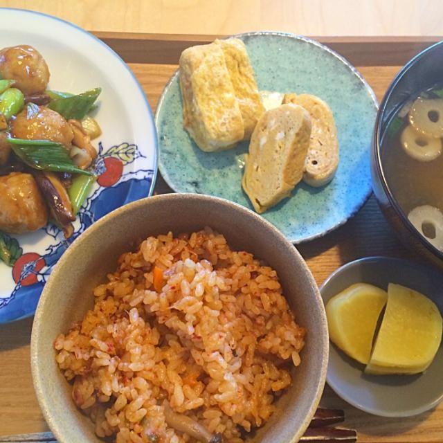 ランチ定食 - 7件のもぐもぐ - キムチごはんと肉団子甘酢あんかけ by hanaruya9041