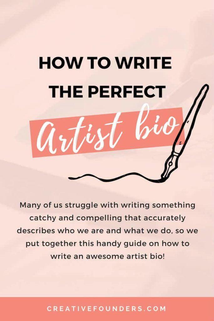 Write an artist bio