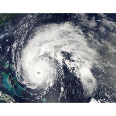 Hurricane Earl Canvas Art - Stocktrek Images (33 x 25)