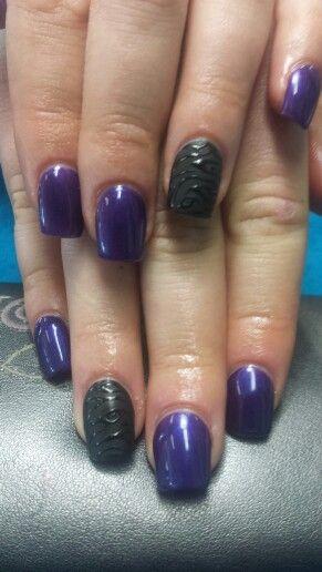 matte black Leopard print and purple
