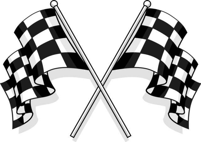 Our Road To The Checkered Flag Bendera Gambar Desain Logo Otomotif