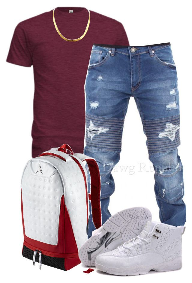 """Dre 3"" by k4200mazikapo on Polyvore featuring American Apparel, NIKE, men's fashion and menswear"