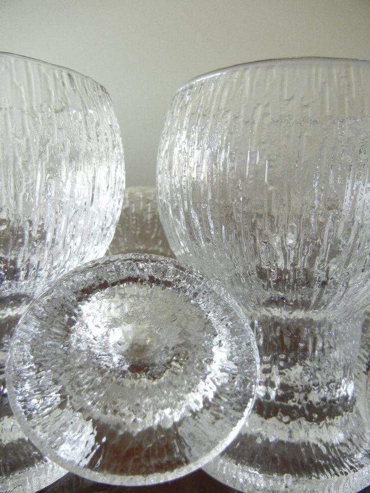 Vintage Ultima Thule Glasses Designed by Tapio Wirkkala Finnish Designer Circa 1970 Mid Century Modern. $57.00, via Etsy.