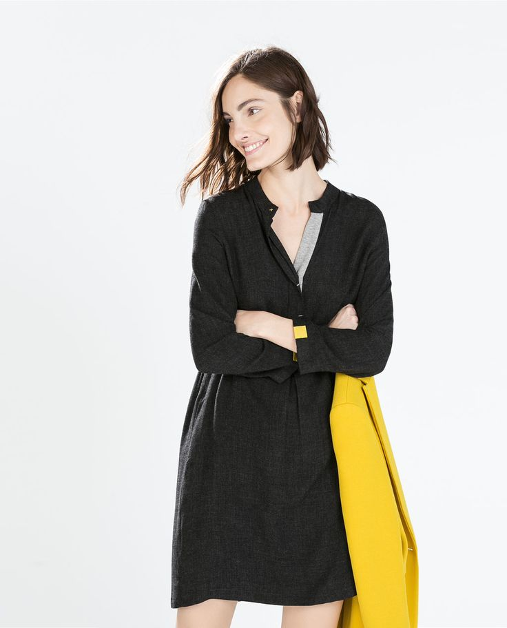 Image 2 Of Shirt Dress From Zara Style And Trends Pinterest Zara Women Minimalist Fashion