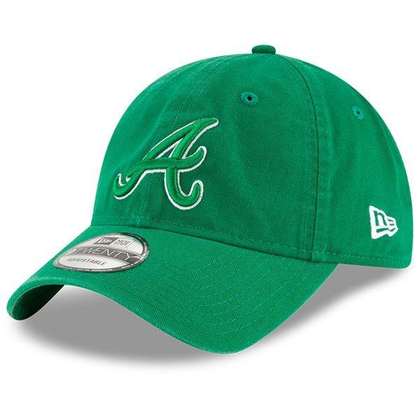 Men S Atlanta Braves New Era Green St Patrick S Day Core Classic 9twenty Adjustable Hat 21 99 With Images Classic Shades