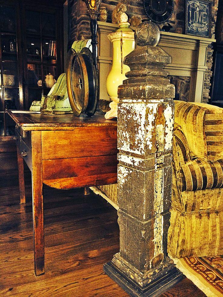 Lovely Second Hand Rose: Vintage Columns/newel Posts Decorating Ideas