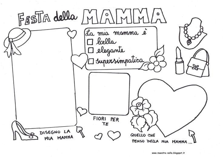 maestra Nella: festa della mamma - tovaglietta plastificata