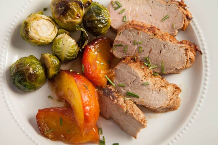 pork tenderloin with sweet and sour peaches peach compote 30 minute ...