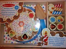 Melissa And Doug Wooden Birthday CakeParty New Design BNWT damaged packaging