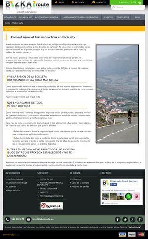 Bizkairoute, ofrece las mejores rutas en bicicleta, un diseño en que Denocheydia empresa de Bilbao ha realizado un gran esfuerzo creativo.