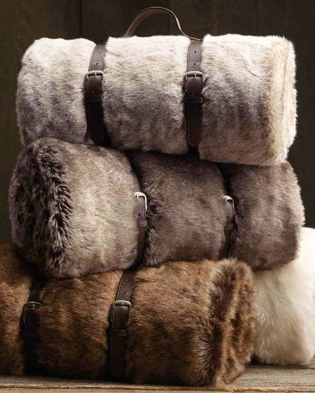 faux fur blanchets - great gift idea!