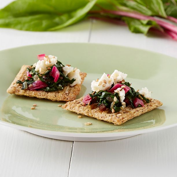 Gritzerland? Sweece? Whatever you call it, it's the birthplace of @marthastewart's swiss chard and feta Triscuit. Learn her ways: www.triscuitsummersnackoff.com #TriscuitSnackoff