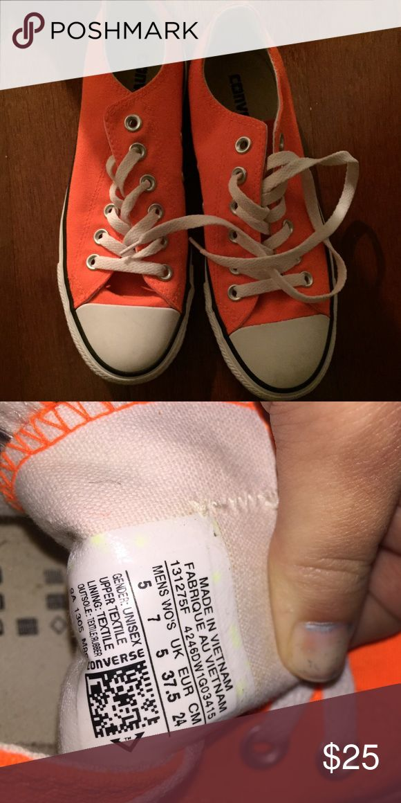 Converse neon orange. only worn once Converse Shoes