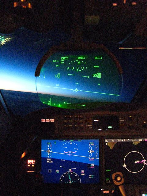 """Fly in state of the art Aircraft. www.flightpooling.com """"HUD"""" Sunrise"""