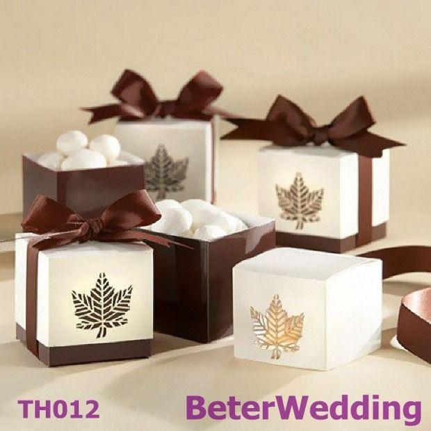 12pcs TH012 Fall Leaf Favor Box Unique Wedding Decoration Itemtaobao