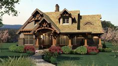 Bungalow Cottage Craftsman Tuscan Elevation of Plan 65870