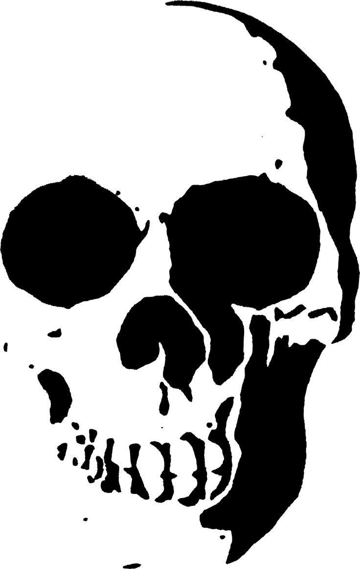 stencil skull - Google...