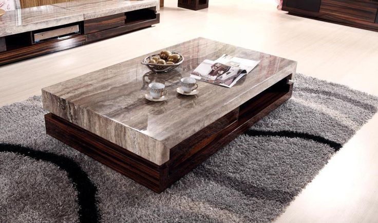 Faux Marble Coffee Table Black - Coffee Tables Furniture