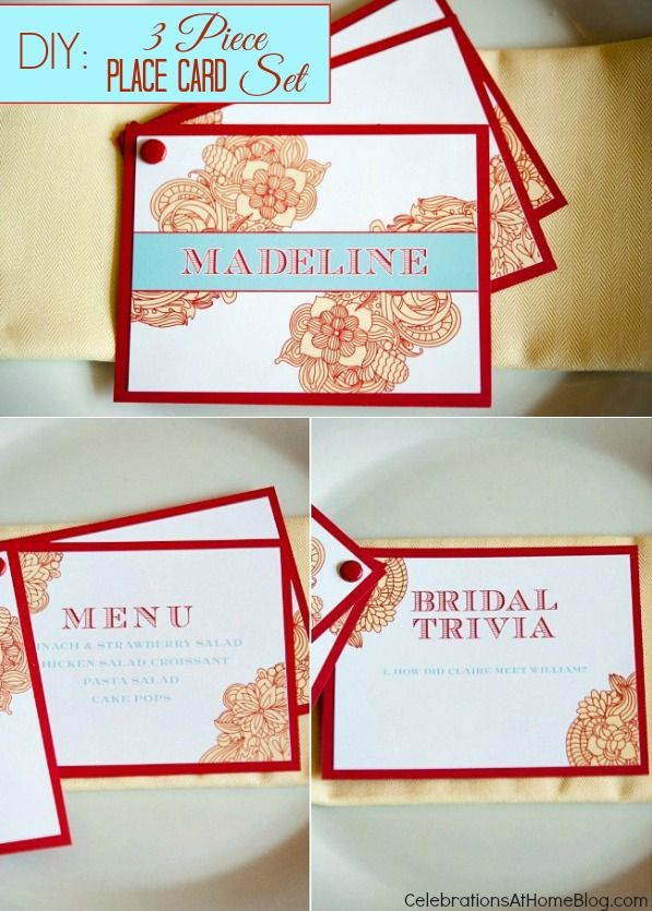 diy 3-piece place card set #diyPlacecards
