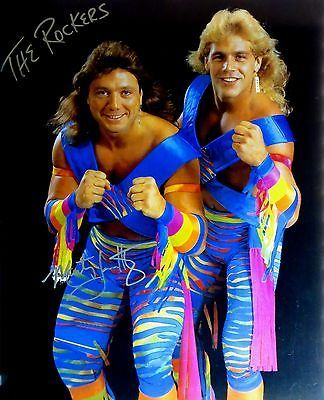 """Marty Jannetty Signed Autographed 16X20 Photo """"The Rockers"""" WWE WWF COA"""