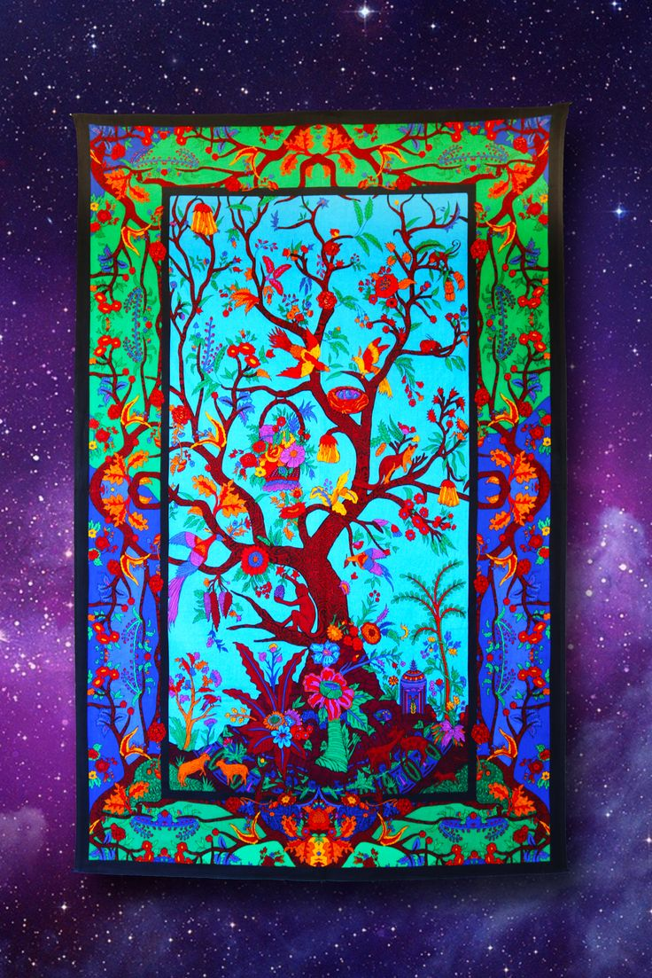 Pretty Tree Of Life Tapestry. This Is A Perfect Wall Hanging For Your  Bohemian Or
