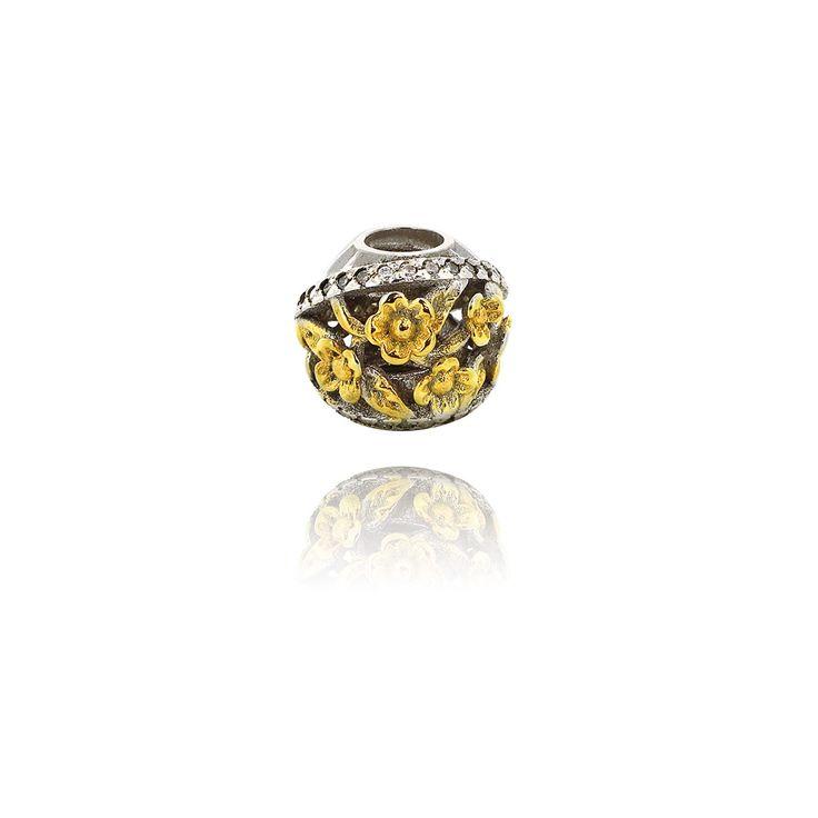 » Подвеска-перлина «Золотые цветы»