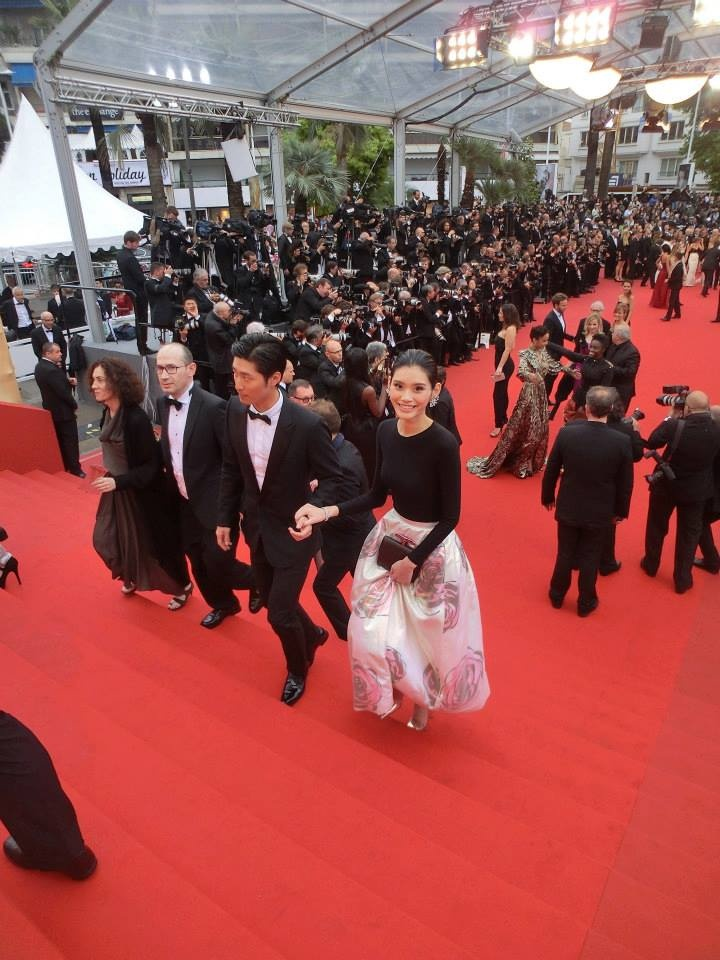 Walking the red carpet with actor Shawn Dou