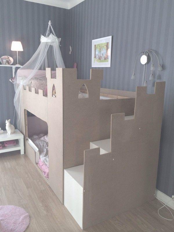 Schloß Hochbett für kleine Ritter und Burgfräulein  >> lillaanna.se - Projekt barnsäng