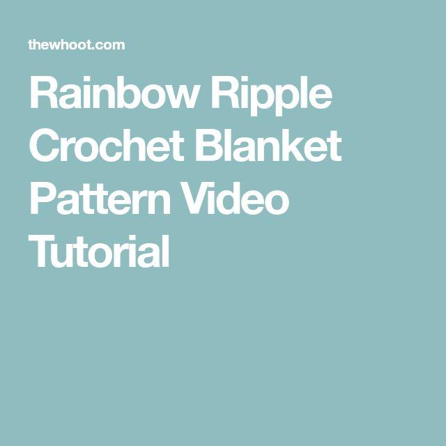 Rainbow Ripple Crochet Blanket Pattern Video Tutorial