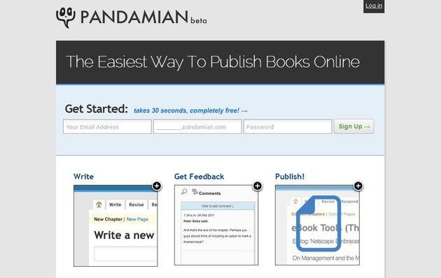 Pandamian: escribe, publica y comparte tus libros en línea