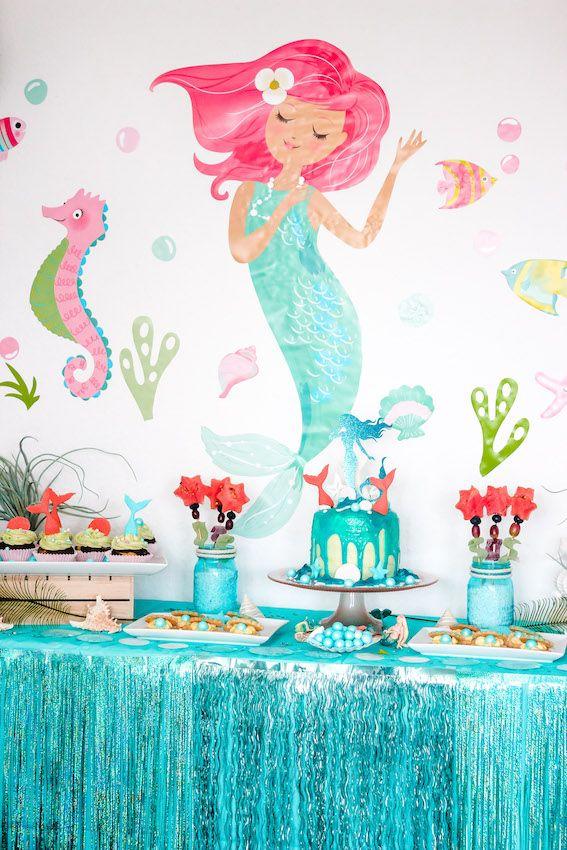 Meerjungfrau Kindergeburtstag- Deko,Spiele,Rezepte