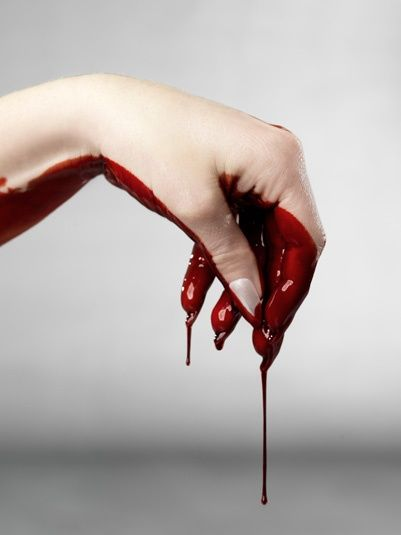 "Contamination imagery signifies guiltiness in Macbeth. As Lady Macbeth deteriorates, she begins to dream of her bloody hands. She states, ""all of the perfumes of Arabia will not sweeten"" her ""little hand""   I would do this as  a painting not a photo"