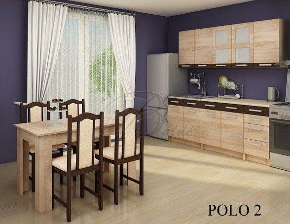 Šiuolaikinės virtuvės komplektas POLO padės sukurti Jūsų virtuvėje jauku ir išskirtinį interjerą. Kaina 302,89€