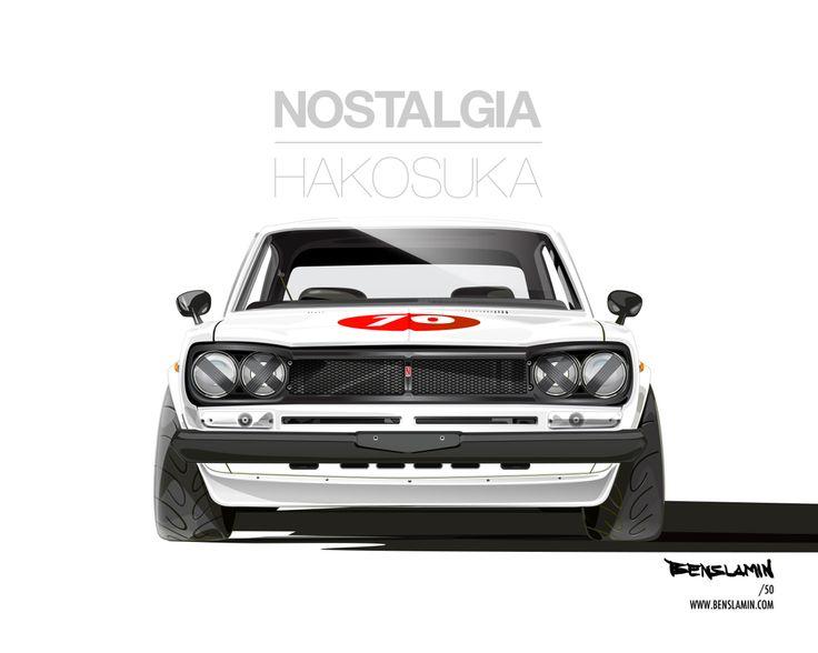 Hakosuka GT-R Art by Benslamin