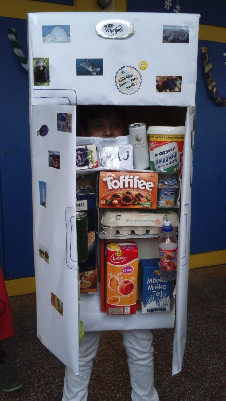 farsangi jelmez -hűtőszekrény , saját gyártmányom :)